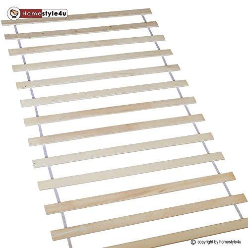 Homestyle4u 1806_LR Rollrost Lattenrost Rollrahmen B x H 90 x 200 cm 13 Leisten Latten unverstellbar für alle Matratzen und Kinderbetten geeignet