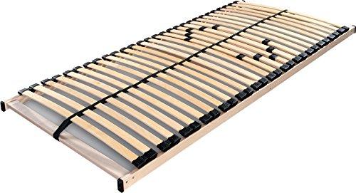 Betten ABC Lattenrost Max 1 NV zur Selbstmontage / Lattenrahmen in 80 x 200 cm mit 28 Leisten und Mittelzonenverstellung - geeignet für alle Matratzen