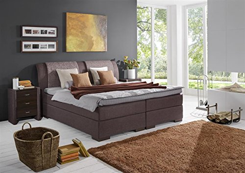 Breckle Boxspringbett 180 x 200 cm Lund Box Split Hollanda 1000 TFK Topper Gel Premium Standard