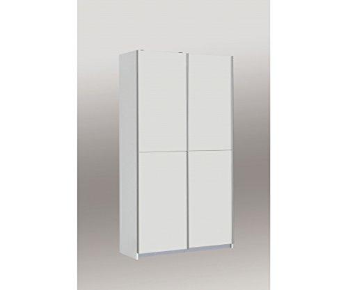 Mehrzweckschrank Schlafzimmerschrank Ohio Holz, weiß, 120 x 42 x 190 cm