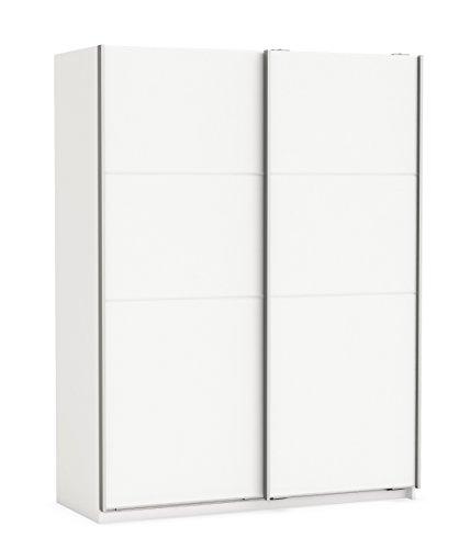Schwebetürenschrank perl weiß 2 Türen B 154 Schiebetürenschrank Kleiderschrank Wäscheschrank Jugendzimmer Schlafzimmer