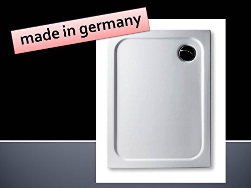 Acryl Duschwanne 90 x 75 cm superflach rechteckig weiß Dusche / Duschtasse / Brausewanne