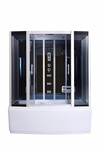 Dampfdusche Duschkabine Badewanne Glasdusche Sauna 3in1 LXW-JS613