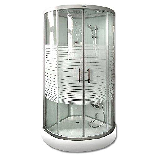 Home Deluxe Dampfdusche | White Pearl | 90x90 cm | inkl. komplettem Zubehör