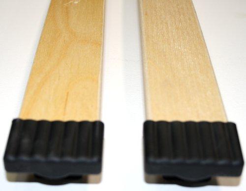 10er Paket Kappen zur Befestigung von Leisten im Lattenrost (schwarz, 10x65mm)