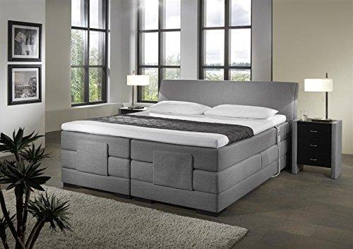 Breckle Boxspringbett 120 x 200 cm Napoli Box mit Stauraum 500 Hollanda 1000 Gel Topper Gel Comfort