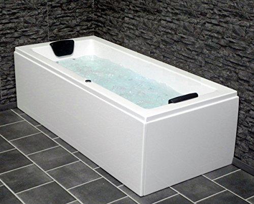 Whirlpool Badewanne Venedig MADE IN GERMANY rechts oder links 150 / 160 / 170 x 75 cm mit 6 Massage Düsen + OHNE Armaturen/ linke Eckbadewanne innen günstig