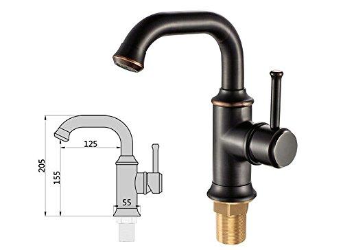 YSRBath Moderne Waschbecken Waschtischarmatur Antike Schwarz Mischbatterie Bad Küche Wasserhahn Badarmatur