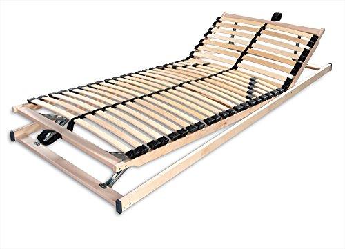 Betten-ABC Max1 K + F, Lattenrost, fertig montiert, mit Kopf- und Fußteilverstellung, Holm durchgehend, Größe 140 x 220 cm