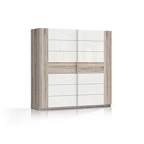 RDNS827E1-T30 Rondino Sandeiche / weiss Schwebetürenschrank Schiebetürenschrank ca. 220 x 210 x 61 cm