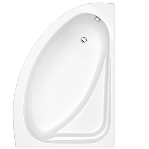 Hudson Reed Eckbadewanne - Badewanne aus Acryl in Weiß - 1500 x 1020 mm - Rechtsbündig - Inkl. Verkleidung