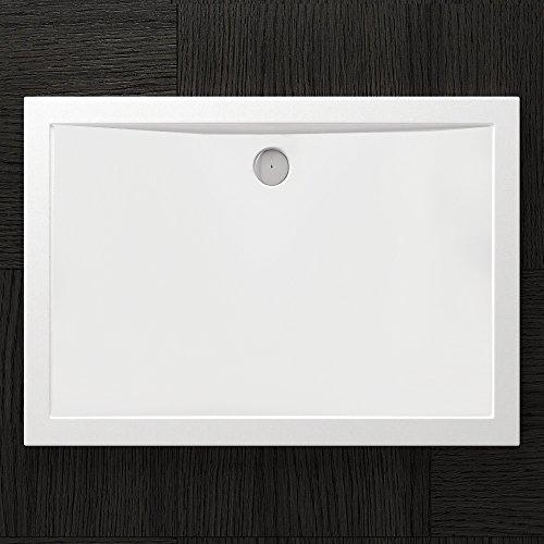TBH: 90x120x4cm Design Duschtasse Faro2 in Weiß, Duschwanne, Acrylwanne