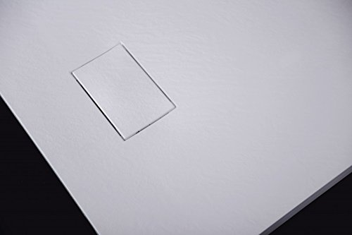 Bernstein Badshop Duschtasse Duschwanne rechteckig GT-Serie aus SMC - Breite 90 cm - Länge und Zubehör wählbar, Maße:90x140cm, Ablaufgarnitur:Inkl. Ablauf Typ B
