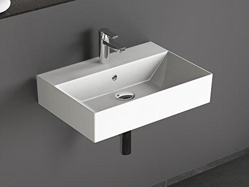 Aqua Bagno KS.60 Design Waschbecken/Aufsatzbecken 60x42cm Keramik weiß Waschtisch Waschschale