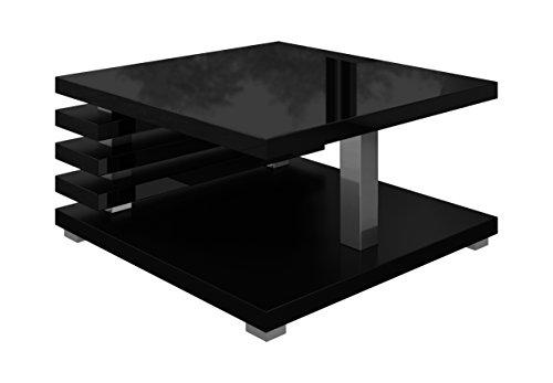Couchtisch Oslo 60 x 60 cm (schwarz hochglanz)