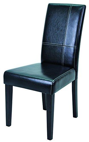 Demeyere Guevara Stühle, 2er Set, Kiefer, Dark Braun/Schwarz, 45 x 55.5 x 94 cm