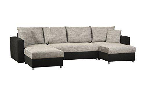 cavadore wohnlandschaft caaro mit ottomane rechts oder links montierbar gro es schlafsofa mit. Black Bedroom Furniture Sets. Home Design Ideas