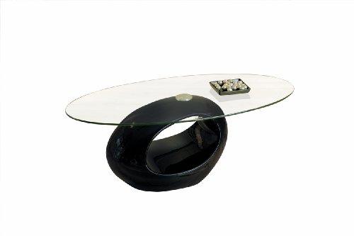 Inter Link 50100110 Couchtisch schwarz hochglanz Glastisch Wohnzimmertisch Wohnzimmer Tisch modern
