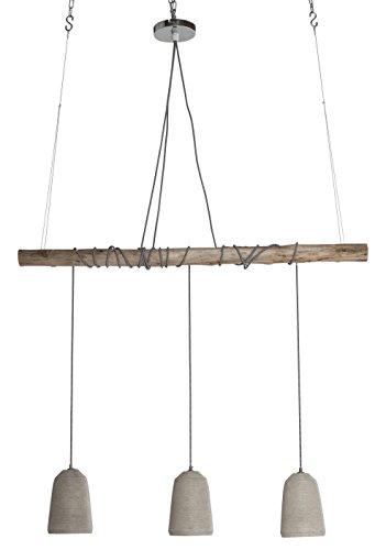Kare Hängeleuchte Dining Concrete, grosse, moderne Pendelleuchte, höhenverstellbare Hängelampen im Industrial-Design, grau (H/B/T) 120x120x15cm
