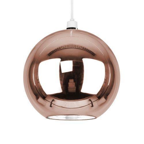 """MiniSun – Kleiner, moderner und kupferfarbiger Lampenschirm im """"Mini Arco"""" Stil mit Retro Kuppeldesign – für Hänge- und Pendelleuchte"""