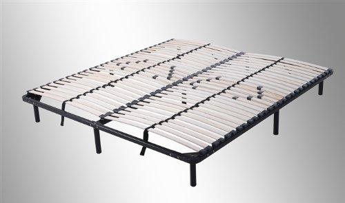 i-flair® Lattenrost, Gästebett auf Füßen, für alle Matratzen geeignet (140cm x 200cm)