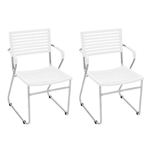 vidaXL 24x Stapelstuhl Weiß Stuhlgruppe Essstuhl Esszimmerstuhl Konferenzstuhl