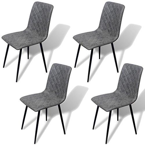 vidaXL 4x Kunstleder Esszimmerstuhl Esszimmerstühle Küchenstuhl Lehnstuhl Stühle