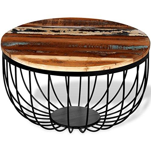 vidaXL Couchtisch Kaffeetisch Beistelltisch Tisch Aufgearbeitetes Massivholz