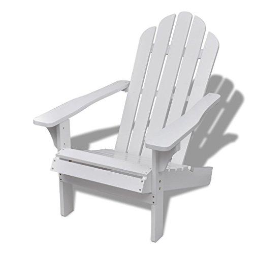 vidaXL Holzstuhl Stuhl Holzsessel Relaxstuhl Gartenmöbel Sessel Gartenstuhl weiß