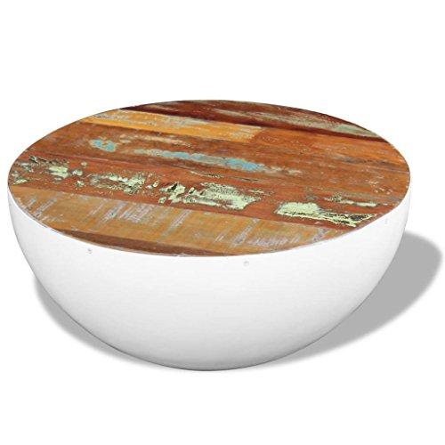 vidaXL Massivholz Couchtisch Beistelltisch Halbkugel Kaffeetisch WohnzimmerAntik