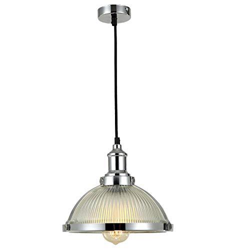Lightsjoy LED Pendelleuchte Industrial Glas Hängeleuchte Vintage Retro Industrie Lampen E27 Deckenleuchte Hängend Hängelampe für Esszimmer Esstisch Wohonzimmer Schlafzimmer Küche Bar Hotel Cafe usw.