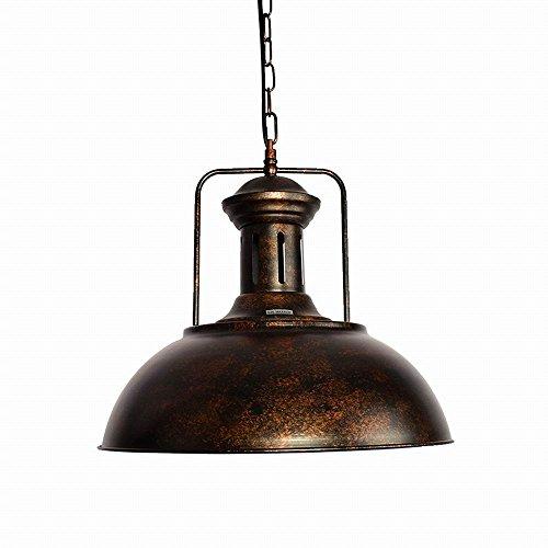 Lingkai Deckenleuchte Bronze Pendelleuchte Industrial Retro Loft Iron Lighting mit Kette verstellbar