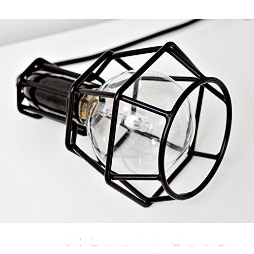 Nclon Industrielle Vintage Retro Kronleuchter,Metallkorb Pendelleuchte Restaurant Deckenleuchte E27 Lampenfassung Ohne glühlampe-A-1-Light