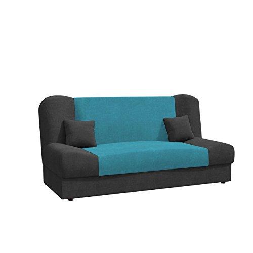 Schlafsofa Jonas Style, Sofa mit Bettkasten und Schlaffunktion, Bettsofa, Schlafcouch, Microfaser, Couch vom Hersteller, Wohnlandschaft (Alova 36 + Alova 29)