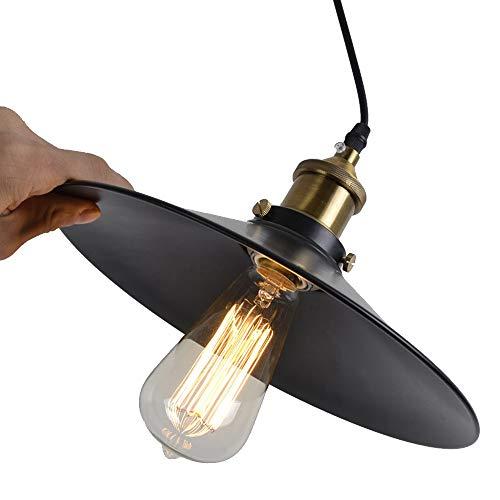 Vintage Retro Edison Loft Pendelleuchte, Retro Industrielle Deckenleuchte Lackiertem Eisen Regenschirm Lampenschirm Land Art Lampe (36cm)