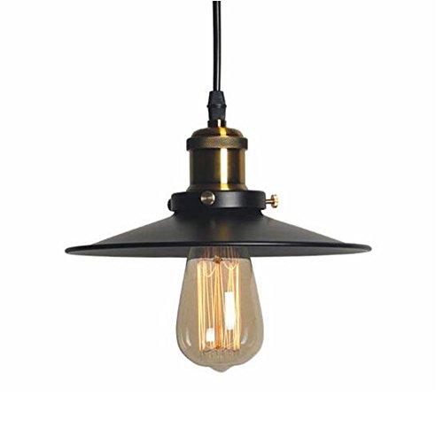 Vintage Retro Edison Pendelleuchte E27 Fassung,Retro Industrielle Deckenleuchte Glühlampe lackiertem Eisen Regenschirm Shade
