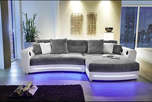 wohnlandschaft sofa ecksofa polsterprogramm eckgarnitur led soundsystem laredo von job weiss. Black Bedroom Furniture Sets. Home Design Ideas