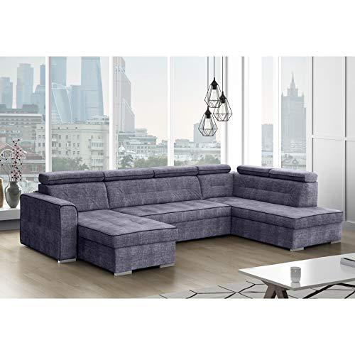 mb-moebel Ecksofa mit Schlaffunktion Eckcouch mit Bettkasten Sofa Couch Wohnlandschaft L-Form Polsterecke Venice System (Ecksofa Rechts)