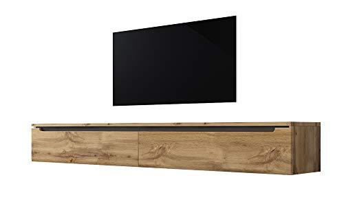 Swift - Fernsehschrank/Tv-Lowboard In Holzoptik Wotan Eiche Matt Hochglanz Hängend Oder Stehend 180 Cm